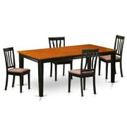 Wooden Importers Quincy 5 Piece Dining Set; Microfiber Upholstery