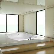 Hydro Systems Designer Katarina 69'' x 69'' Air/Whirlpool Bathtub with Thermal System; Bone