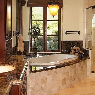 Hydro Systems Designer Savannah 77'' x 44'' Whirlpool Bathtub; Almond WYF078278637303