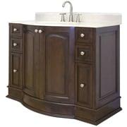 American Imaginations 42'' Single Traditional Bathroom Vanity Set; Brushed Nickel