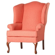 Comfort Pointe Crawford Wingback Chair; Coral