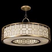 Fine Art Lamps Allegretto 5 Light Drum Pendant; Burnished Gold Leaf