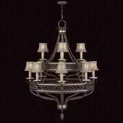 Fine Art Lamps Villa Vista 12 Light Shaded Chandelier