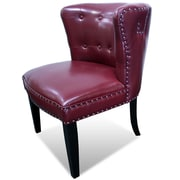 BestMasterFurniture Faux Leather Living Room Barrel Chair (Set of 2); Burgundy
