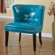 BestMasterFurniture Faux Leather Living Room Barrel Chair (Set of 2); Sea Green