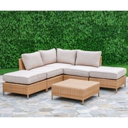 Creative Living Golden Bay 6 Piece Arrow Deep Seating Group with Cushions