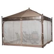 Abba Patio Outdoor Art Steel Frame Garden Party Backyard Gazebo Canopy with 4 Side Walls