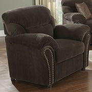 A&J Homes Studio Velvet Arm Chair; Chocolate