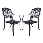 California Outdoor Designs Roma Dining Arm Chair (Set of 2)