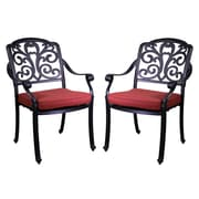 California Outdoor Designs Roma Dining Arm Chair with Cushion (Set of 2)