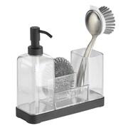 InterDesign Forma Kitchen Soap Dispenser Pump, Sponge, Scrubby and Dish Brush Caddy Organizer