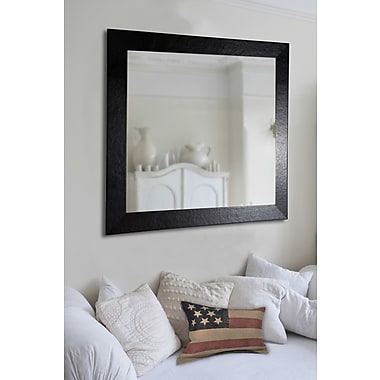 Rayne Mirrors Ava Wide Leather Wall Mirror; 33'' H x 27'' W x 0.75'' D