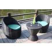 Bellini Natal 3 Piece Lounge Seating Group; Canvas Aruba
