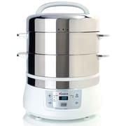 Euro Cuisine 17 Qt. Stainless Steel 2 Tier Electric Food Steamer