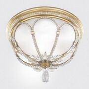 Fine Art Lamps Prussian Neoclassic 2 Light Flush Mount; Gold