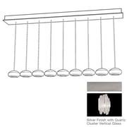 Fine Art Lamps Natural Inspirations 9 Light Kitchen Island Pendant; Platinized Silver