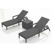 Harmonia Living District 3 Piece Chaise Lounge Set