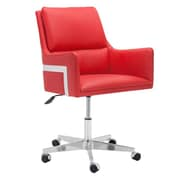 Sunpan Modern Torres Mid-Back Office Chair; Red