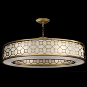 Fine Art Lamps Allegretto 6 Light Drum Pendant; Burnished Gold Leaf