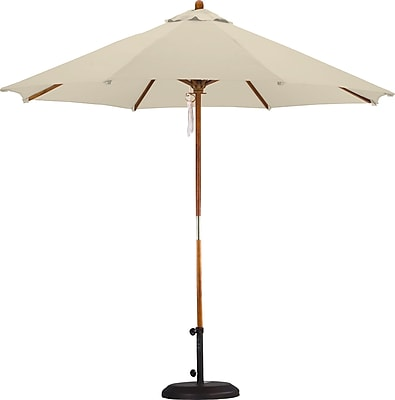 California Umbrella 9' Market Umbrella; Polyester Antique Beige WYF078277683497