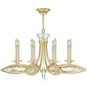 Fine Art Lamps Marquise 8 Light Candle-Style Chandelier; Florentine Brushed Gold