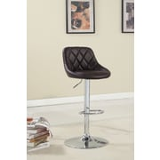 Hokku Designs Bellenia Adjustable Height Swivel Bar Stool with Cushion; Dark Brown