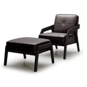 VIG Furniture Divani Casa Amory Leather Modern Arm Chair and Ottoman