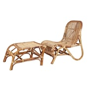 Ibolili Rattan Kim Lounge Chair w/ Ottoman