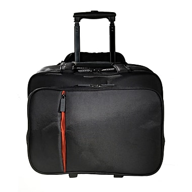 Eco Style Luxe Black/Orange Twill/EVA Rolling Case for 16.1