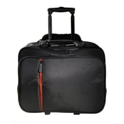 "Eco Style Luxe Black/Orange Twill/EVA Rolling Case for 16.1"" Laptop (ELUX-RC14)"