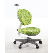 Kid2Youth Kids Desk Chair; Green & Yellow