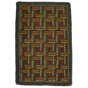 Homespice Decor Hand-Crafted Green / Brown Area Rug