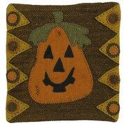 Homespice Decor Trick or Treat Applique Wool Throw Pillow