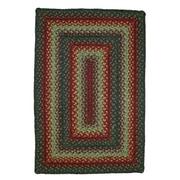 Homespice Decor Oklahoma Braided Red / Black Area Rug; 6' x 9'