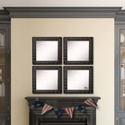 Rayne Mirrors Ava Feathered Accent Wall Mirror (Set of 4)