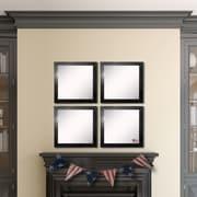 Rayne Mirrors Ava Black Smoke Wall Mirror (Set of 4)