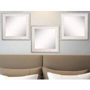Rayne Mirrors Ava French Victorian White Wall Mirror (Set of 3)
