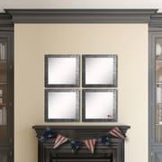 Rayne Mirrors Ava Safari Silver Wall Mirror (Set of 4)