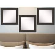 Rayne Mirrors Ava Dark Embellished Wall Mirror (Set of 3)