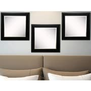 Rayne Mirrors Ava Grand Black and Aged Silver Wall Mirror (Set of 3)