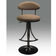 Creative Images International Adjustable Height Swivel Bar Stool; Black-Brown