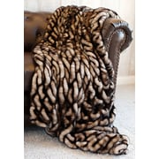FABULOUS-FURS Couture Throw Blanket; 86'' L x 60'' W