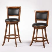 Wildon Home   Jackman 24'' Swivel Bar stool with Cushion (Set of 2)