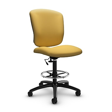 Global® (5339-6 IM73) Supra-X Drafting Task Chair, Imprint Currie Fabric, Yellow