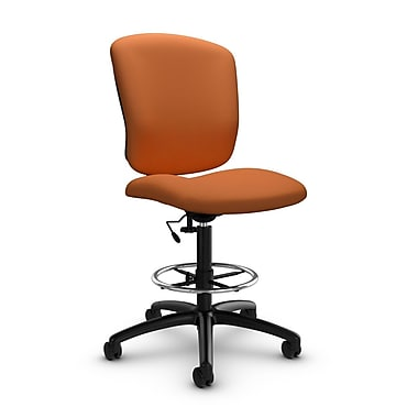 Global® (5339-6 IM81) Supra-X Drafting Task Chair, Imprint Paprika Fabric, Orange