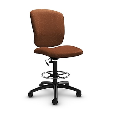Global® (5339-6 MT24) Supra-X Drafting Task Chair, Match Sunset Fabric, Orange