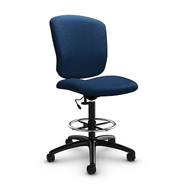 Global® (5339-6 MT26) Supra-X Drafting Task Chair, Match Wave Fabric, Blue