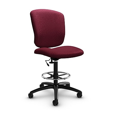 Global® (5339-6 MT29) Supra-X Drafting Task Chair, Match Burgundy Fabric, Red