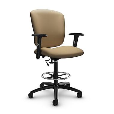 GlobalMD – Chaise fonctionnelle pour dessinateur Supra-X (5338-6 IM71), tissu imprimé liège, brun clair