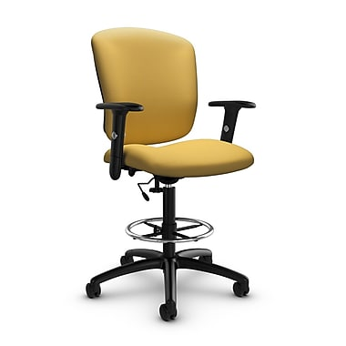 Global® (5338-6 IM73) Supra-X Drafting Task Chair, Imprint Currie Fabric, Yellow